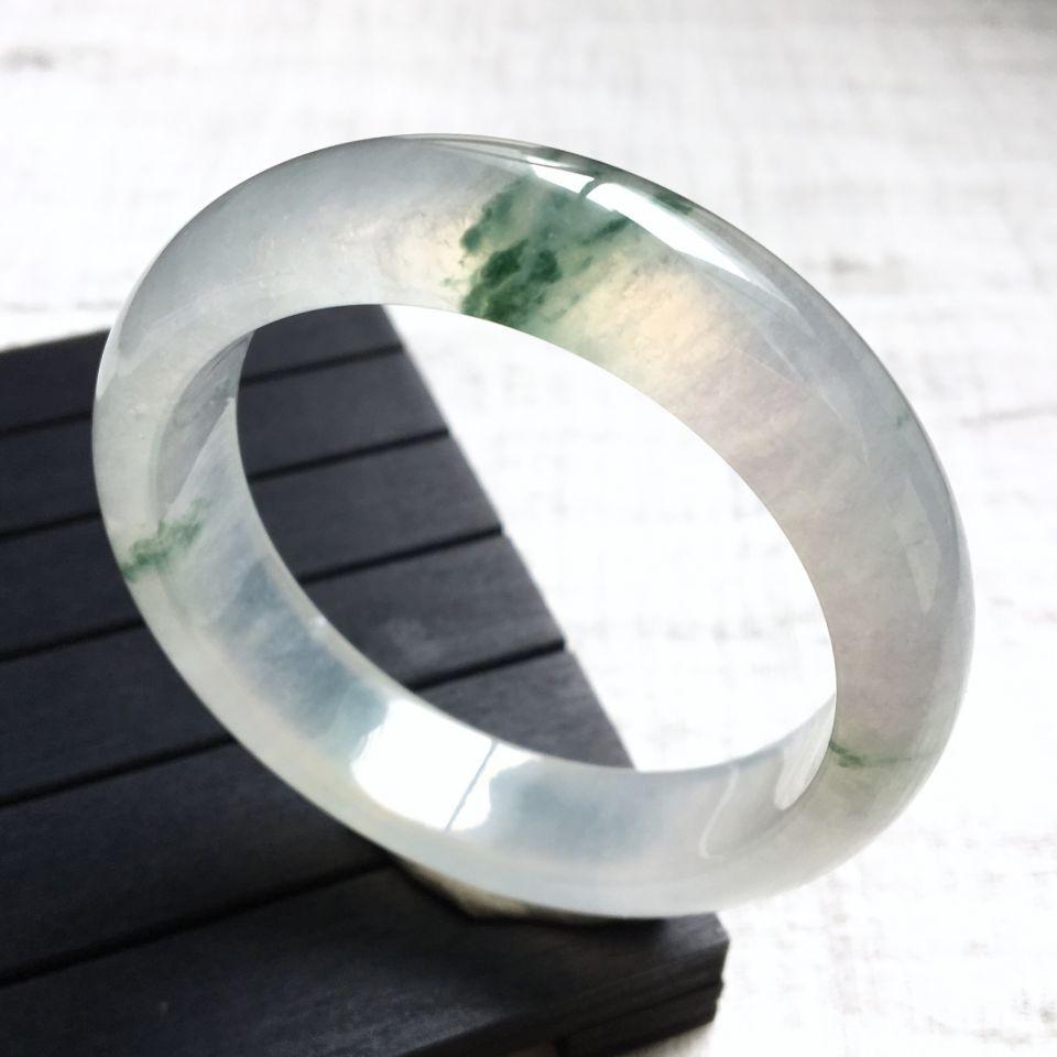 冰种飘花手镯(54.5mm)