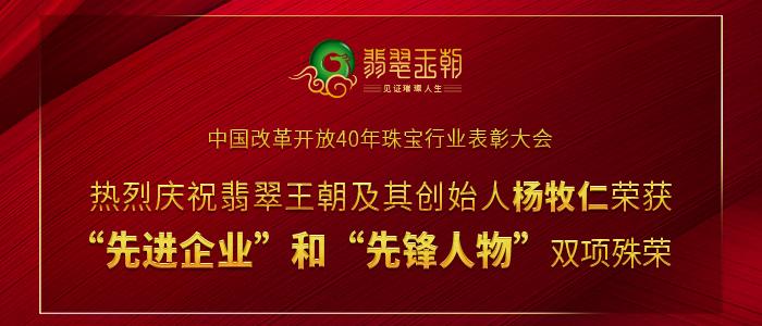 改革开放40年珠宝行业表彰大会获先进企业奖