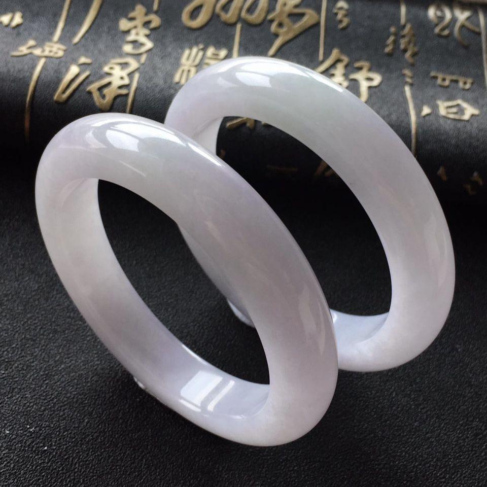 (超值推荐)糯冰种紫罗兰手镯(一对)(57.7m/58mm)