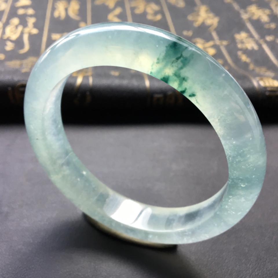 冰种飘花手镯(57.2mm)