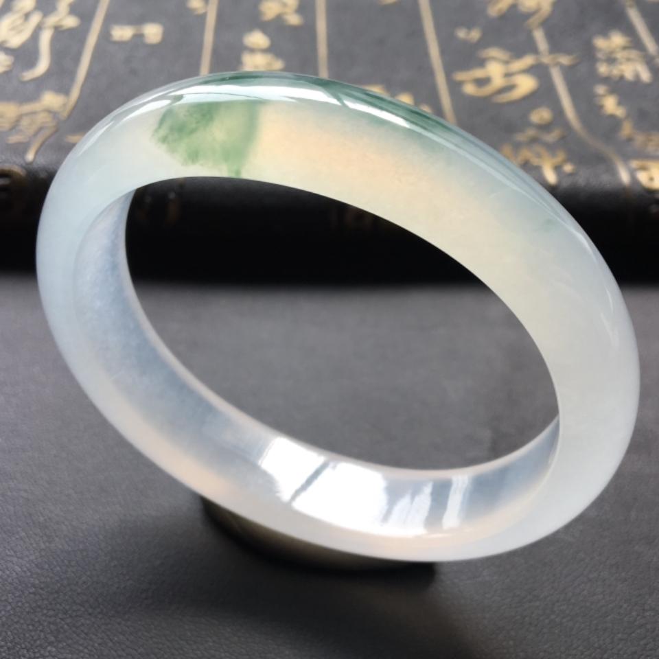 冰种飘花贵妃镯(56.2mm-48.3mm)