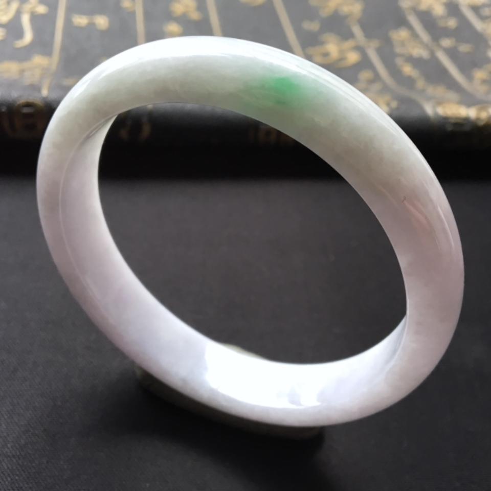 糯冰种略飘翠手镯(57.2mm)