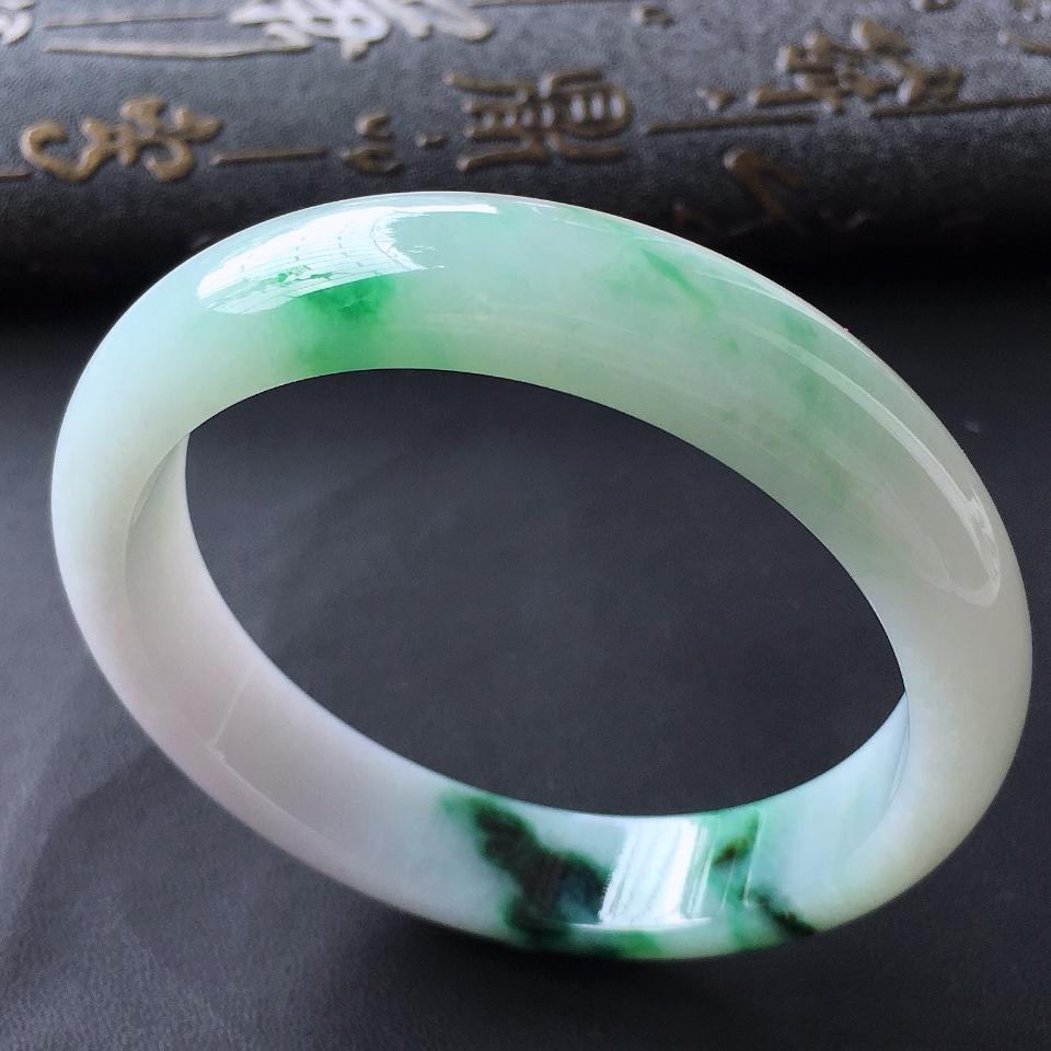 细糯种癣加绿手镯(58.2mm)