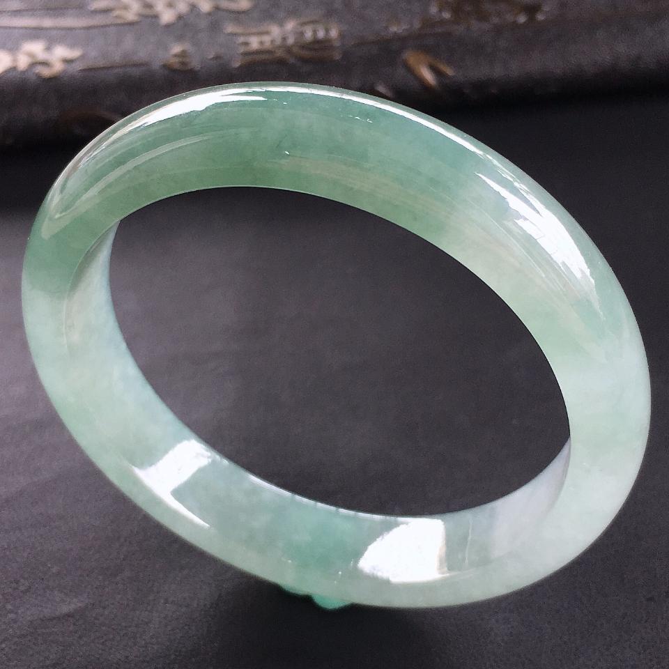 糯冰种晴水手镯(55.5mm)