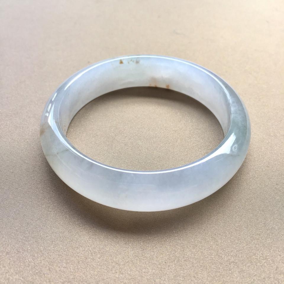(超值推荐)冰种飘黄翡手镯54.6mm