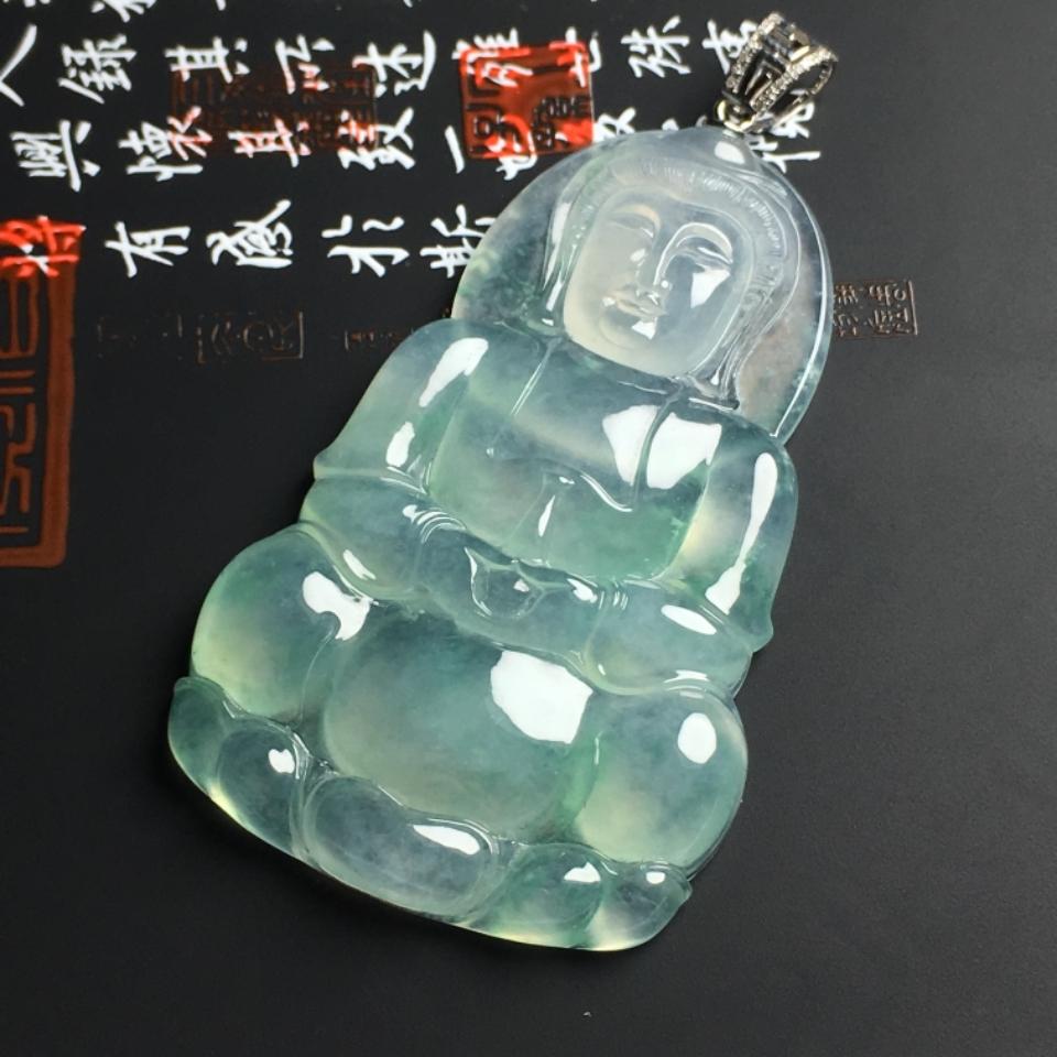 冰种晴水观音挂件翡翠