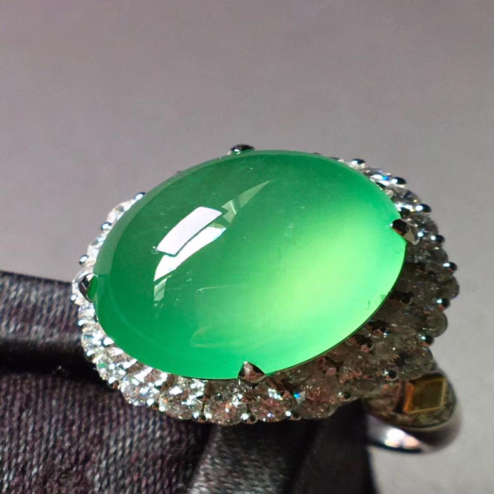高冰木那绿戒指