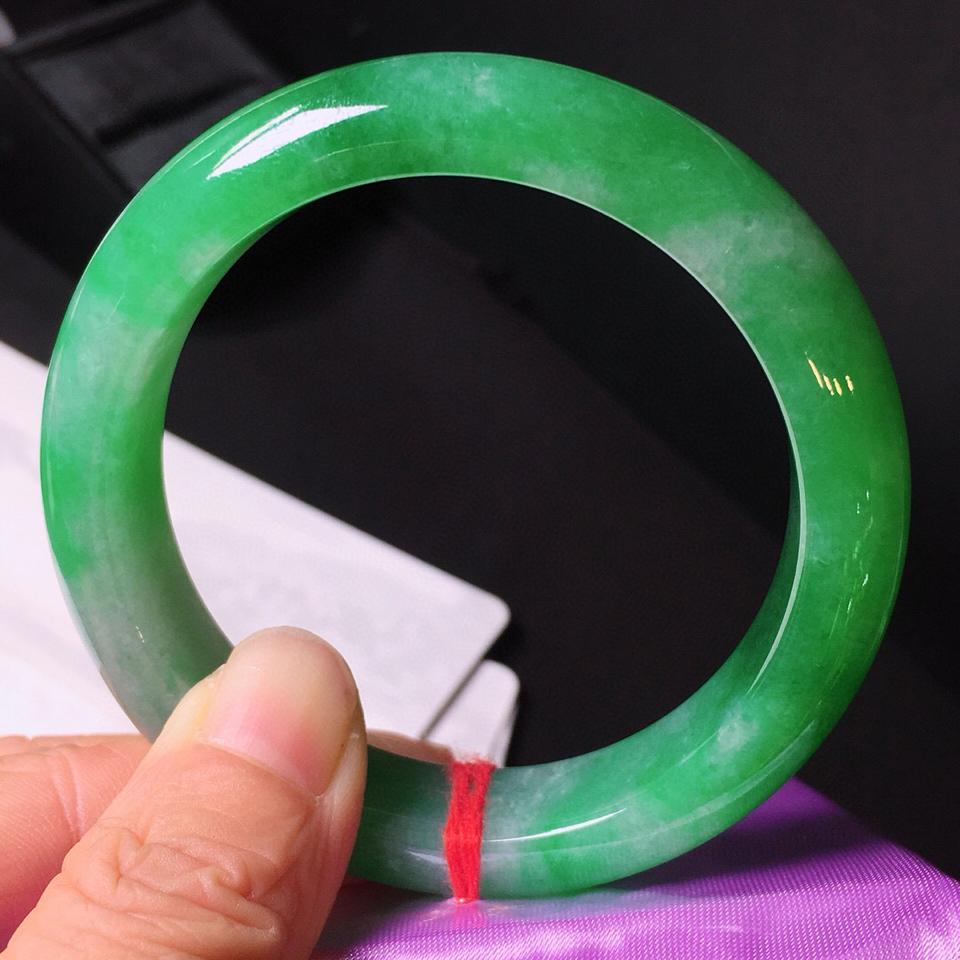 冰种翠色手镯(56mm)翡翠