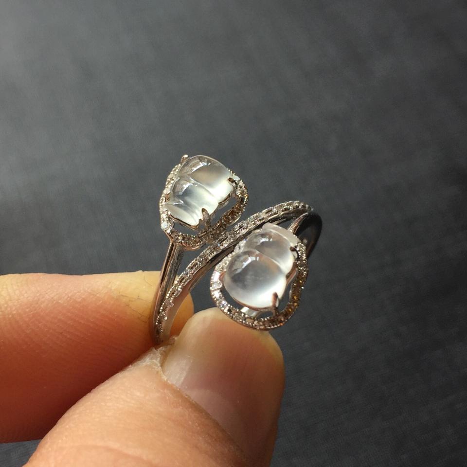 (超值推荐)玻璃种强莹光葫芦戒指