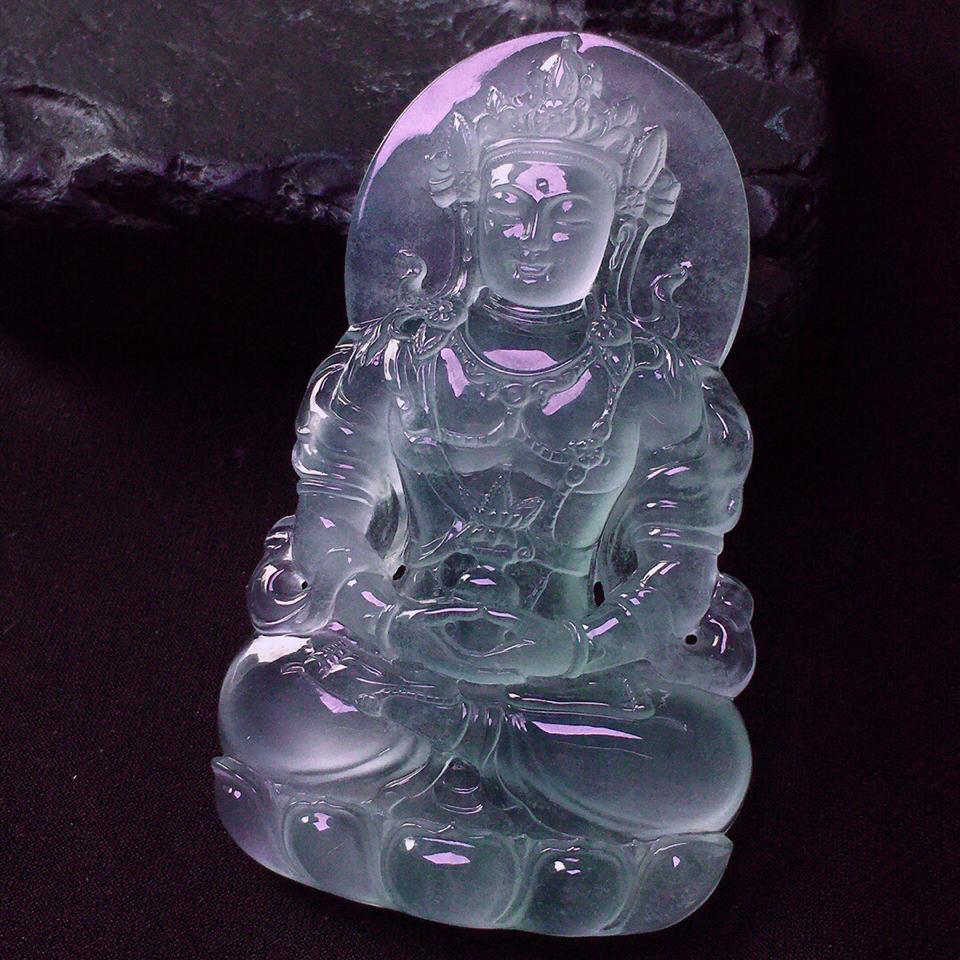 冰玻种度母挂件翡翠