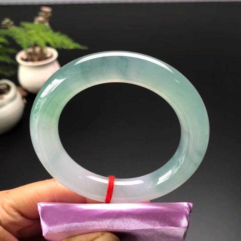 冰种晴水圆条手镯(58mm)翡翠
