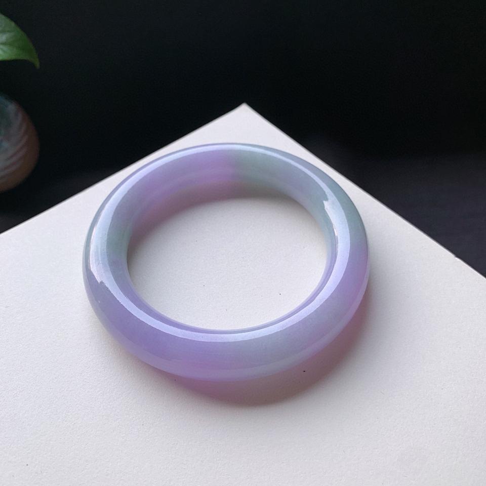 细糯种紫罗兰圆条手镯59mm