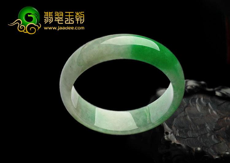 (超值推荐)糯冰种正阳绿缅甸翡翠A货手镯(57.6mm)