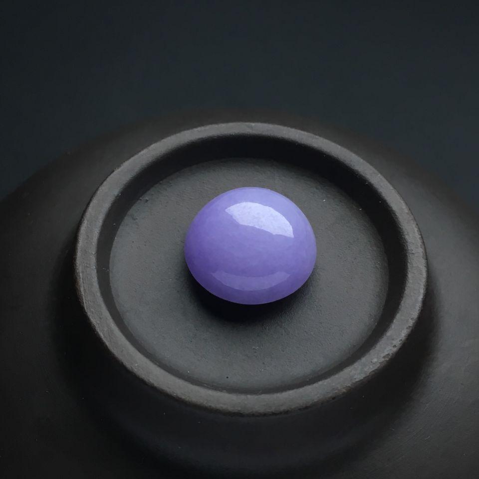 (超值推荐)糯冰种紫罗兰戒面