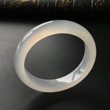 (超值推荐)冰种无色手镯(54.1mm)