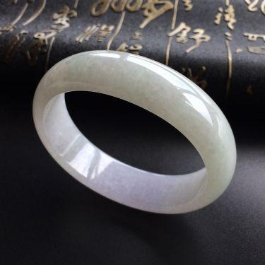 (超值推荐)糯冰种淡紫罗兰贵妃镯(54mm-48.4mm)