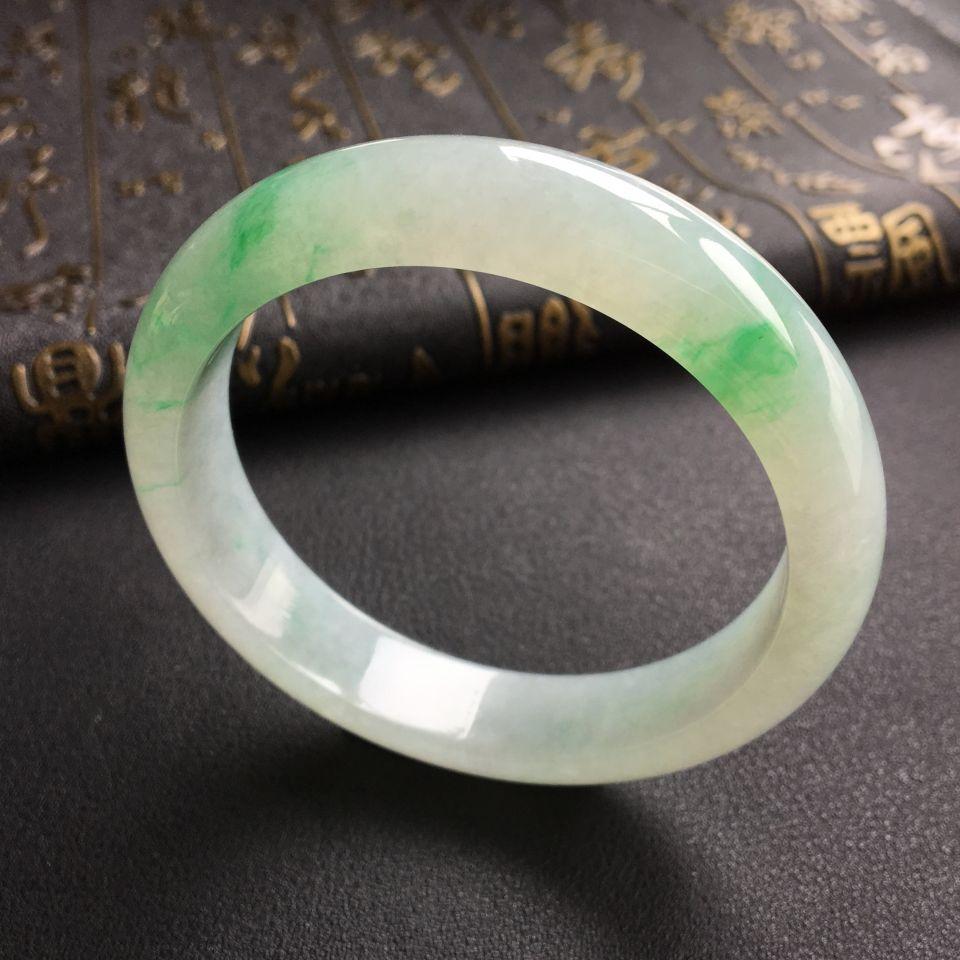 糯冰种飘翠手镯(55.5mm)
