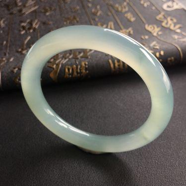 冰种晴水圆条手镯(54.3mm)