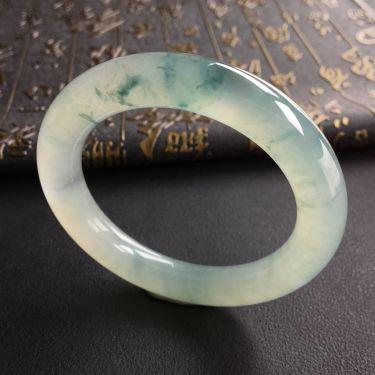 冰种飘花圆条手镯(58.1mm)