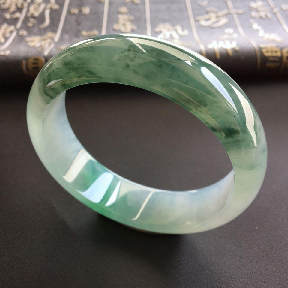 冰种飘花略带翠手镯(57.6mm)