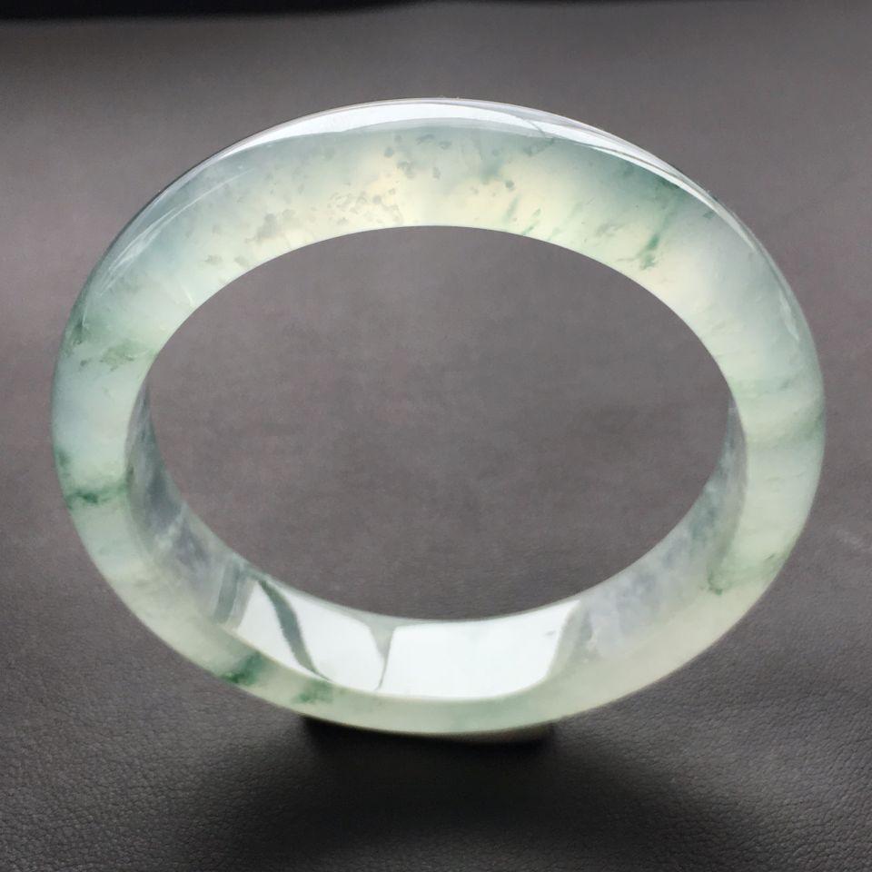 冰种飘蓝花手镯(57.8mm)