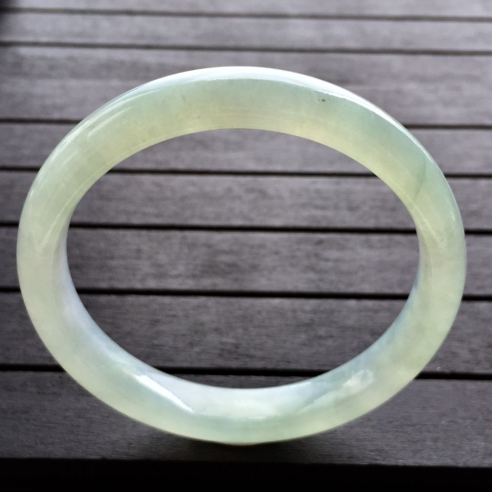 糯冰种晴水手镯(55.8mm)