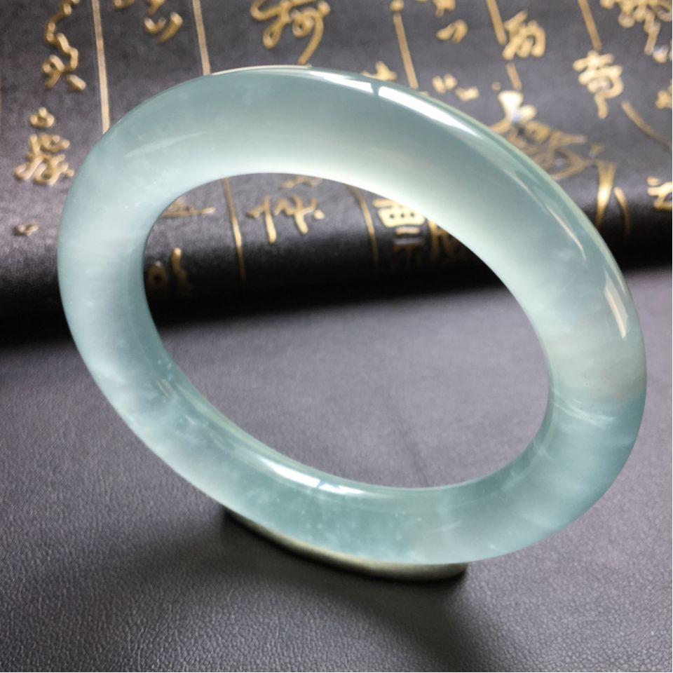 冰种晴水圆条手镯(53.5mm)