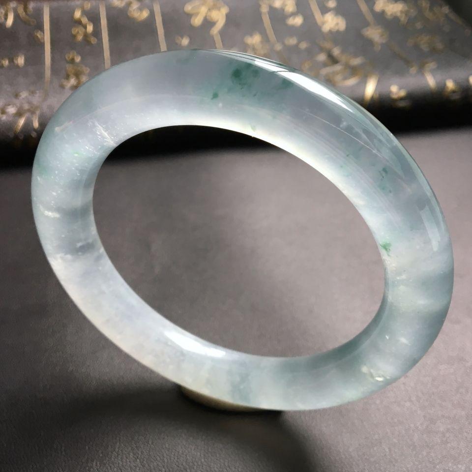 冰种飘花圆条手镯(61.2mm)
