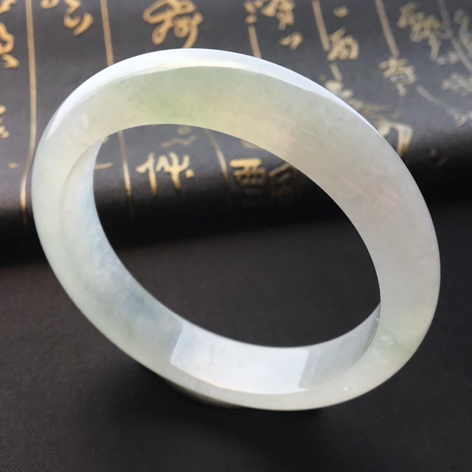 糯冰种晴水略飘花手镯(57.5mm)