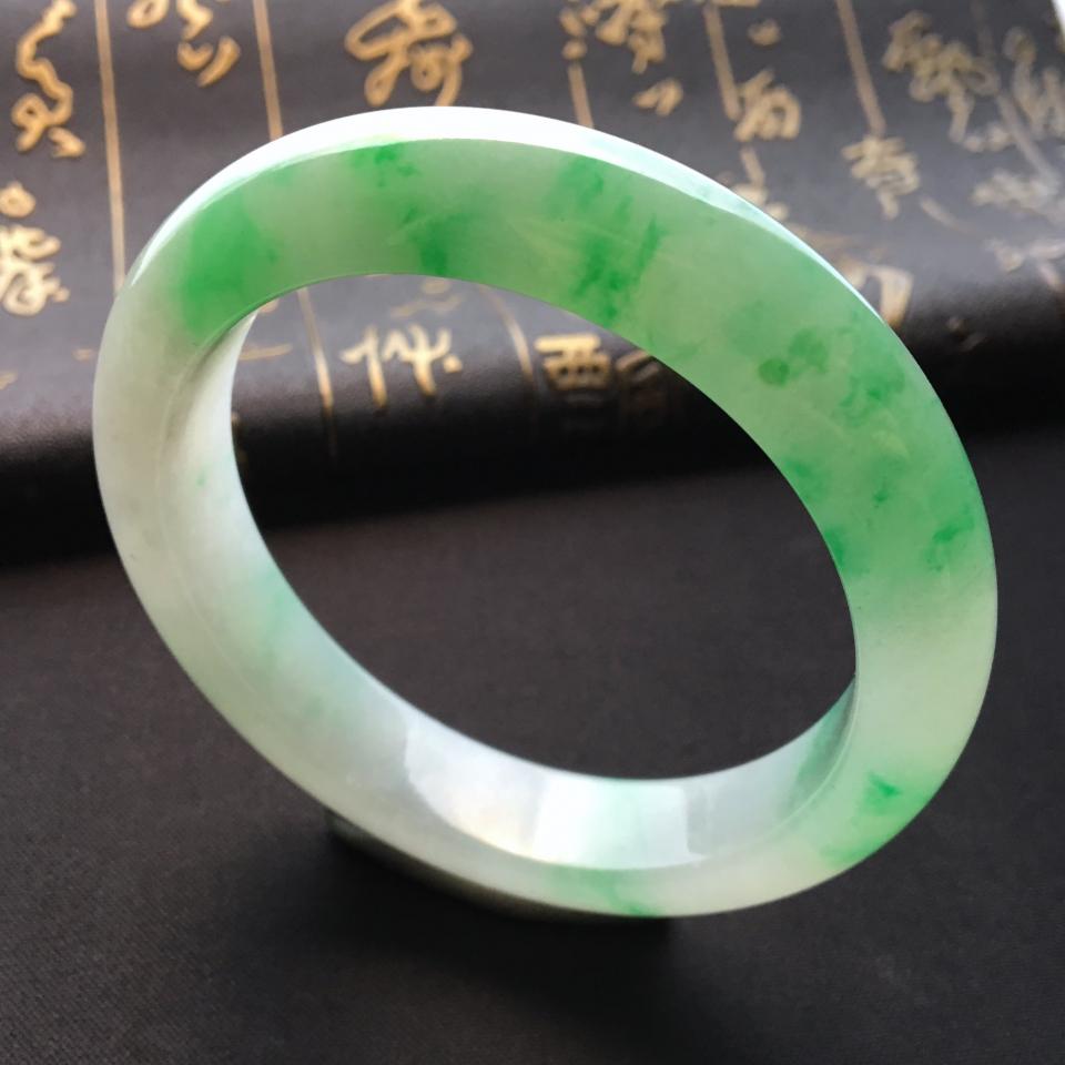 糯冰种飘翠手镯(58mm)