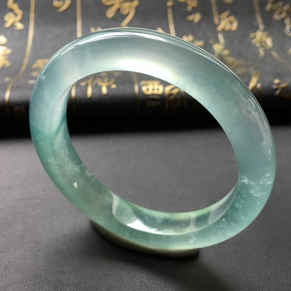 冰玻种飘花手镯(51.5mm)