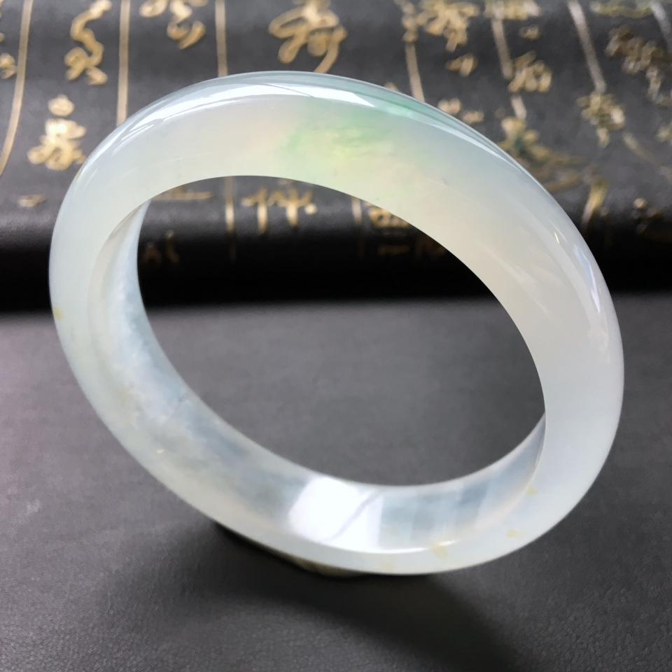 冰种略飘翠手镯(56.8mm)