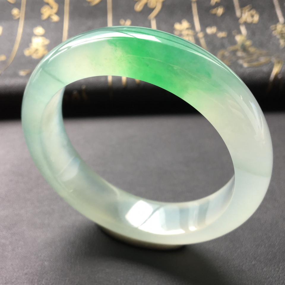 冰种飘翠手镯(54.2mm)