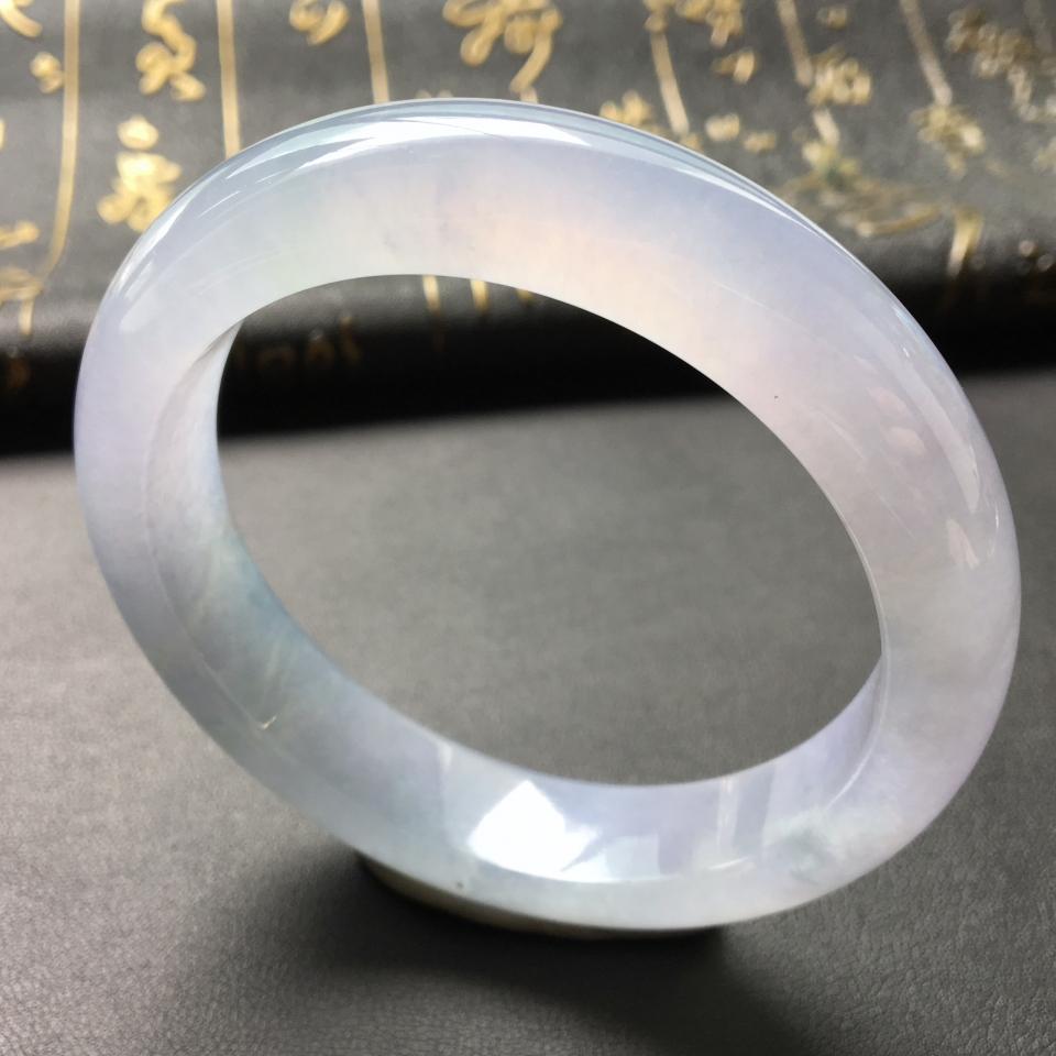 冰种淡紫罗兰手镯(56.8mm)