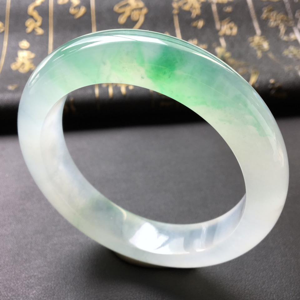 冰种飘翠手镯(58.3mm)